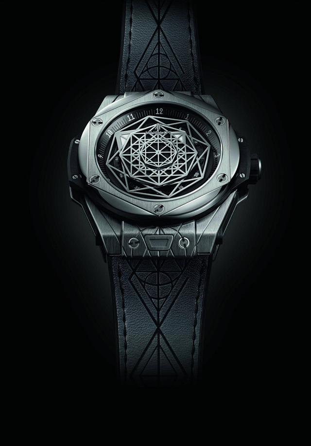 HUBLOT宇舶表Big Bang Sang Bleu刺青腕表