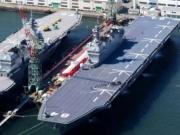 <b>日本侵华战舰复活 日本最大直升机航母加贺号入列</b>