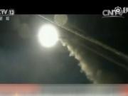 美军发射超过50枚战斧导弹打击叙空军基地 导弹升空照亮黑夜