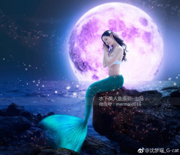 沈梦瑶- [TGOD推女神]水下美人鱼写真迷失在蓝色海洋里