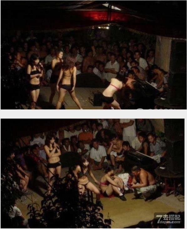 实拍村里的 民俗 歌舞团艳舞表演 低俗火爆现场