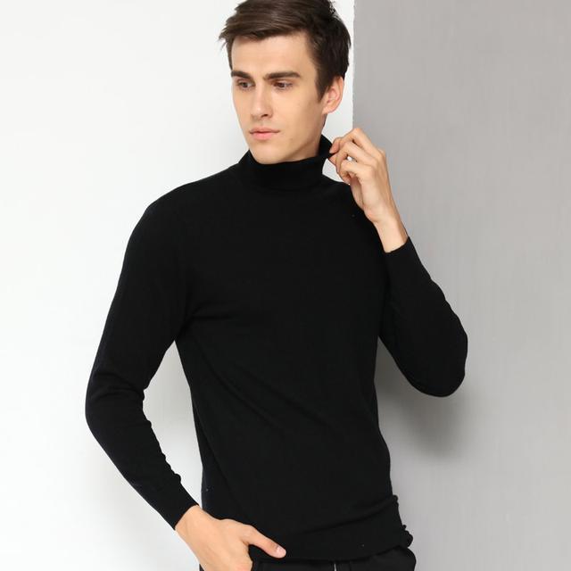 秋冬高领羊毛衫