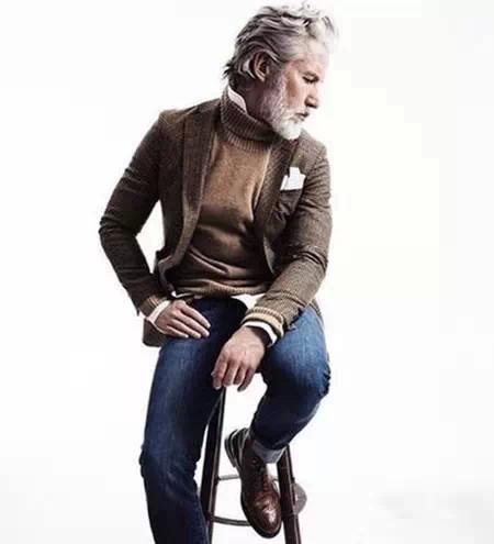 男士高领毛衣怎么搭66