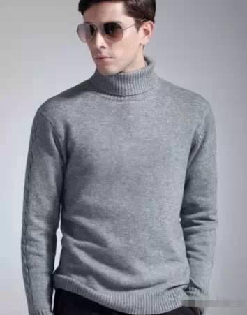 男士高领毛衣怎么搭44