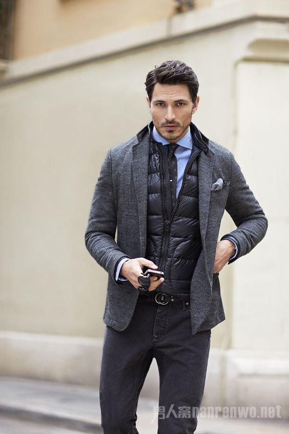 外搭tweed西装
