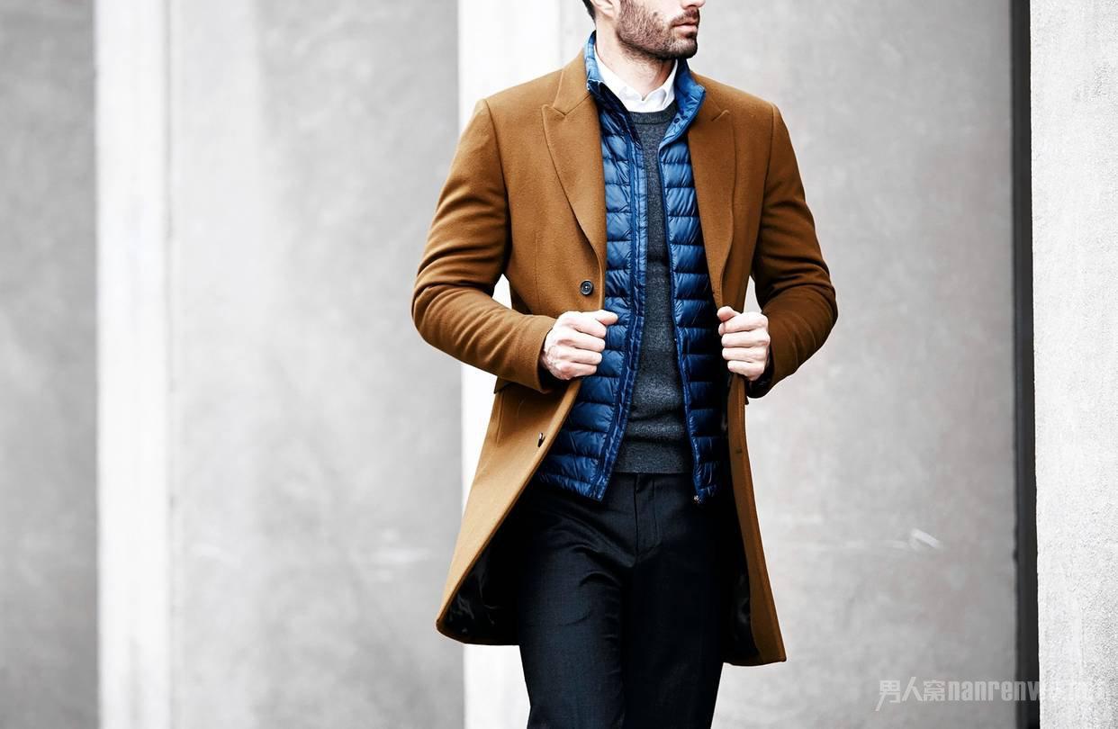 羽绒外搭大衣