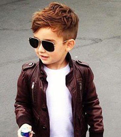 0后小男孩帅气飞机头 男孩两侧短前面长的发型图片
