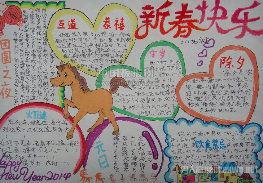2017春节的手抄报大全 关于春节的手抄报资料精选(2)图片
