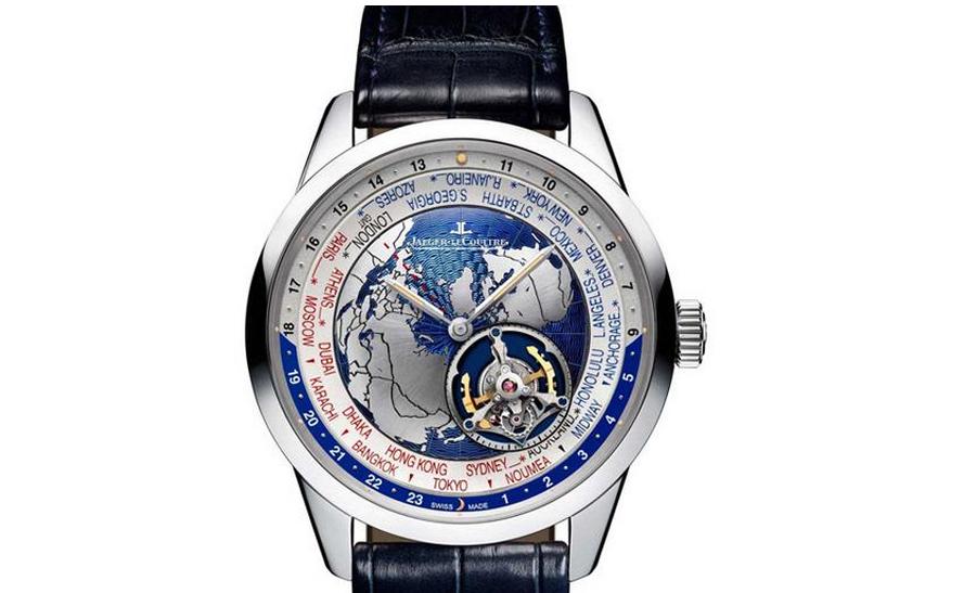 积家全新GEOPHYSIC世界时间飞行陀飞轮腕表