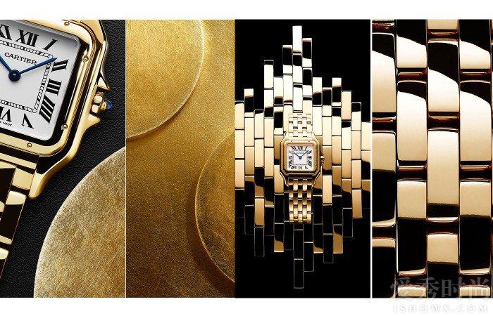 Panthère de Cartier卡地亚猎豹腕表,中号表款,18K黄金