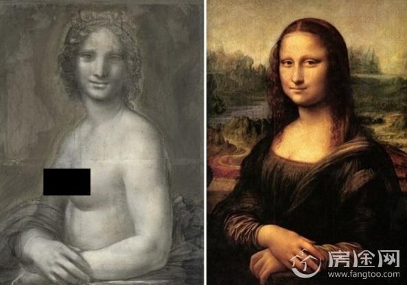 蒙娜丽莎或有裸体姐妹作 法国现神似同期作品 疑为达芬奇真迹