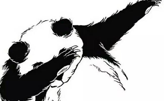 嘻哈手势卡通图