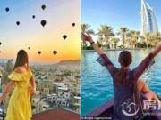 美女空姐狂吸粉 周游世界一年蹭玩74个国家